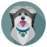 Cara de cauda cortada do cão - ilustração do vetor Fotos de Stock