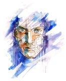 Cara de Ciber ilustración del vector