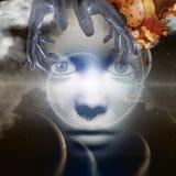 Cara de dios ilustración del vector