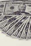 Cara de encontro das notas de dólar Fotos de Stock Royalty Free
