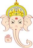 Cara de Ganesh que da la bendición Foto de archivo