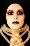 Cara de Goth Fotos de archivo