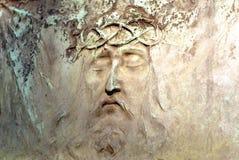 Cara de Jesús de la piedra sepulcral Imágenes de archivo libres de regalías