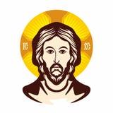 Cara de Jesús Iglesia ortodoxa del icono libre illustration
