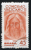 Cara de Jesus da saia de Turin foto de stock