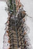 Cara de la armadura del metal de la columna Fotografía de archivo libre de regalías