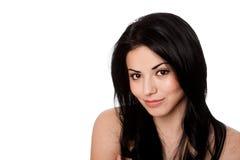 Cara de la belleza con la gran piel Imagen de archivo libre de regalías