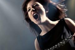 Cara de la cólera de la mujer Imagen de archivo