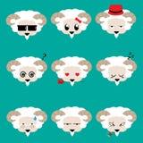Cara de la cabra con diseño, vector y el ejemplo de carácter 9 imágenes de archivo libres de regalías