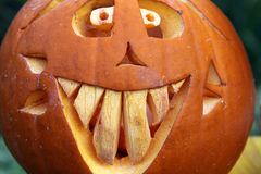 Cara de la calabaza Imagen de archivo