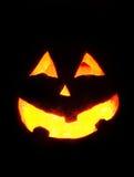 Cara de la calabaza de Halloween Fotos de archivo libres de regalías