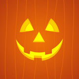 Cara de la calabaza de Halloween Imagen de archivo libre de regalías