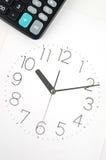 Cara de la calculadora y de reloj Fotografía de archivo libre de regalías