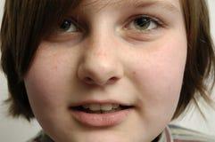 Cara de la chica joven Fotografía de archivo