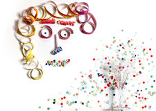 Cara de la decoración del carnaval Imagen de archivo libre de regalías