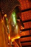 Cara de la estatua de Buda en el templo de Wat Pho, Bangkok, Tailandia Fotografía de archivo libre de regalías