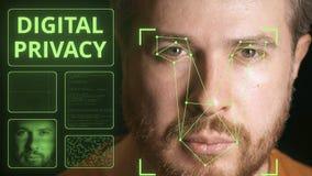 Cara de la exploración del sistema informático Clip relativo a la vida privada de Digitaces almacen de video