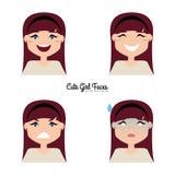 Cara de la expresión de la muchacha Imagen de archivo