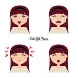 Cara de la expresión de la muchacha Imagen de archivo libre de regalías