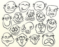 Cara de la historieta. Fotos de archivo libres de regalías