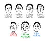 Cara de la historieta de la emoción Fotos de archivo libres de regalías