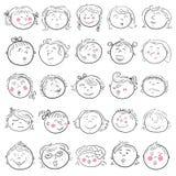 Cara de la historieta del sistema de la muchacha Fotografía de archivo libre de regalías