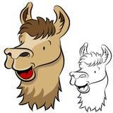 Cara de la llama stock de ilustración