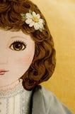 Cara de la muñeca del paño Fotos de archivo