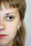 Cara de la muchacha Imagen de archivo libre de regalías