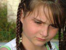 Cara de la muchacha Fotos de archivo
