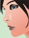 Cara de la muchacha Imágenes de archivo libres de regalías