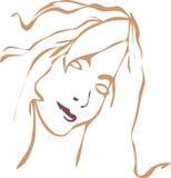 Cara de la muchacha stock de ilustración