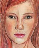 Cara de la muchacha Foto de archivo