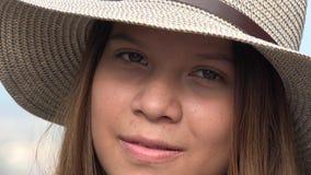Cara de la muchacha adolescente Fotografía de archivo libre de regalías
