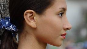 Cara de la muchacha adolescente Fotos de archivo libres de regalías