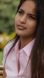Cara de la muchacha adolescente Imagen de archivo