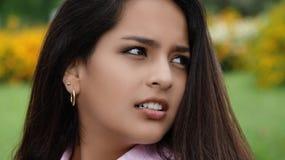 Cara de la muchacha adolescente Imagenes de archivo