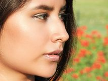 Cara de la muchacha bastante adolescente Imagen de archivo libre de regalías