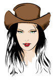 Cara de la muchacha de la belleza libre illustration