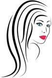 Cara de la muchacha de la belleza ilustración del vector
