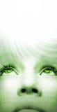 Cara de la muchacha del Cyber Imagen de archivo libre de regalías
