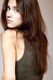 Cara de la muchacha del encanto de la moda Imagenes de archivo
