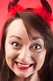 Cara de la muchacha loca imágenes de archivo libres de regalías