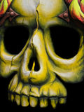Cara de la muerte Imagen de archivo libre de regalías