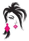 Cara de la mujer. ilustración del vector