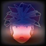 Cara de la mujer Ilustración del Vector