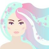 Cara de la mujer libre illustration