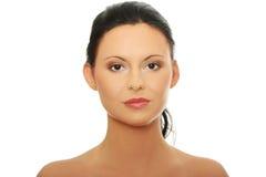 Cara de la mujer con la piel limpia Imagen de archivo libre de regalías