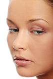Cara de la mujer con la piel limpia Fotos de archivo libres de regalías