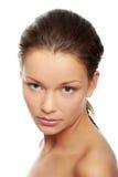 Cara de la mujer con la piel limpia Imágenes de archivo libres de regalías